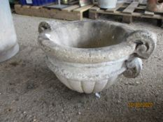 RECONSTITUTED STONE DECORATIVE PLANTER, APPROX 45CMS