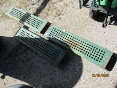 THREE CAST DRAIN COVERS, EACH APPROX 76CMS LONG