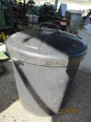 MOULDED PLASTIC BIN WITH LID