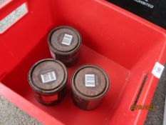 THREE VARIOUS TINS OF METAL CARE PAINT