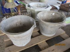 TWO GALVANISED BUCKETS