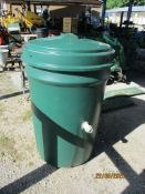 LARGE MOULDED PLASTIC WATER TANK, HEIGHT APPROX 97CMS