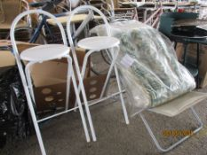 2 STOOLS AND FOLDING CHAIR
