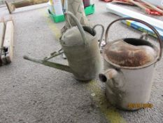 TWO GALVANISED WATER CANS