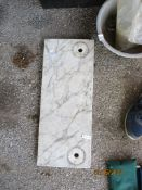 SMALL PIECE OF MARBLE, APPROX 50CMS X 20CMS