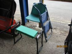 SMALL FOLDING STEP TOGETHER WITH A GARDEN KNEELER