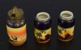 Noritake style condiment set