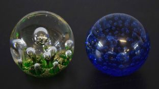 Langham paperweight together with a Murano example (2)