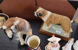 Model of a St Bernard dog made by Border Fine Arts, the base signed E Waugh 1994, limited edition of