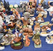 Extensive collection of over 40 small liqueur holders modelled mainly as birds and animals, some