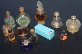 Various early 20th century and later scent bottles etc