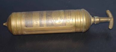 Vintage Pyrene brass fire extinguisher, 36cm long