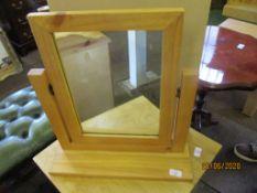 Modern wooden dressing table mirror