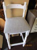 Modern grey upholstered kitchen bar stool