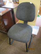 Modern black upholstered office chair