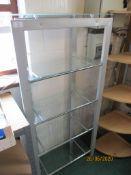Modern metal four tier glass display shelf