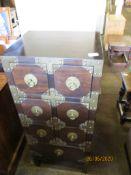 Seven drawer eastern hardwood cabinet