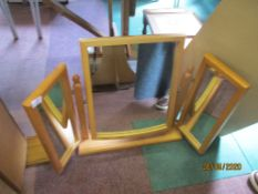 Modern pine table top dressing table mirror