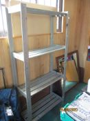 Modern four tier stained pine wooden shelf
