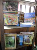 Nine various modern jigsaw puzzles