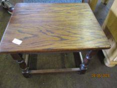 Small oak side table
