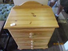 Modern pine bedside cabinet