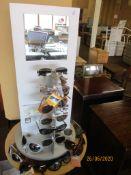 Sunglasses on a shop display unit