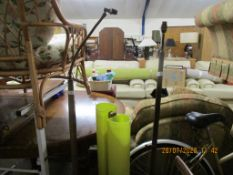 THREE VARIOUS 1950S/1960S LAMP STANDS