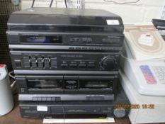 PANASONIC SG-HM10L MIDI HIFI TOGETHER WITH A TOSHIBA VIDEO RECORDER