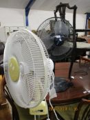 TWO VARIOUS ELECTRIC FANS
