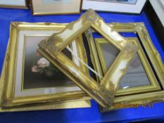 SELECTION OF VARIOUS GILT PICTURE FRAMES, LARGEST APPROX 36 X 44CM