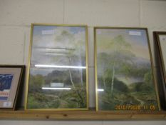 PAIR OF FRAMED PRINTS OF COUNTRY SCENES, EACH APPROX 46 X 32CM