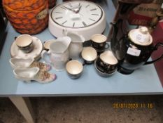 PART COFFEE SET TOGETHER WITH VARIOUS OTHER CERAMICS