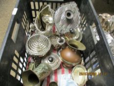 GOOD QUANTITY OF VARIOUS PLATED AND OTHER METAL WARES