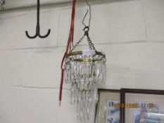 MID-20TH CENTURY CHANDELIER TYPE LIGHT FITTING, APPROX HEIGHT 23CM