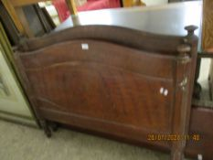 STAINED PINE SINGLE BEDSTEAD