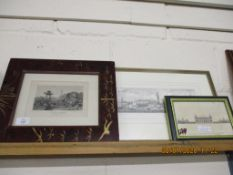 THREE VARIOUS FRAMED PRINTS
