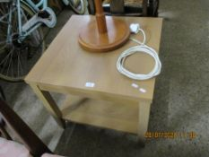 SMALL MODERN SQUARE OCCASIONAL TABLE, APPROX 60CM