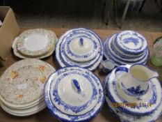 QUANTITY OF ROYAL DOULTON NORFOLK PATTERN PLATES, SERVING DISHES AND A JUG TOGETHER WITH CROWN