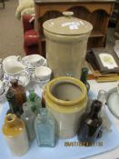 LARGE REPRODUCTION POTTERY BREAD BIN