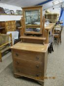 COUNTRY DRESSING TABLE WITH MIRROR ABOVE, WIDTH APPROX 75CM