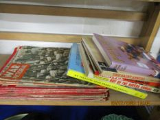 QUANTITY OF VARIOUS VINTAGE TV AND COMIC ANNUALS TOGETHER WITH COPIES OF WAR PICTORIAL AND THE WAR