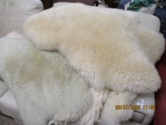 QUANTITY OF SHEEPSKIN RUGS
