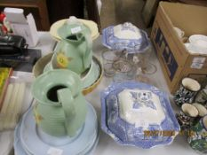 QUANTITY OF VARIOUS HOUSEHOLD CERAMICS AND DECORATIVE GLASS