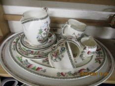 QUANTITY OF VARIOUS INDIAN TREE PATTERN INCLUDING OVAL MEAT PLATE, CREAM JUG ETC, TOGETHER WITH
