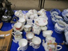 "QUANTITY OF VARIOUS FLORAL AND GILT TRIMMED INCLUDING ROYAL CROWN DERBY ""DERBY POSIES"" TEA WARE ETC"