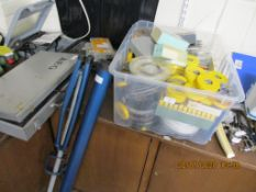 BOX CONTAINING LARGE QUANTITY OF VARIOUS 8MM CINE FILM SPOOLS, CONTENTS UNKNOWN TOGETHER WITH A