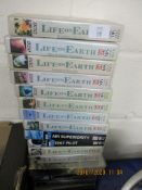 SET OF BOXED VHS VIDEO TAPES, LIFE ON EARTH ETC