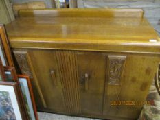 MID-20TH CENTURY CARVED SIDEBOARD, WIDTH APPROX 120CM