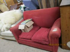 LATE 19TH/EARLY 20TH CENTURY TWO-SEATER SOFA